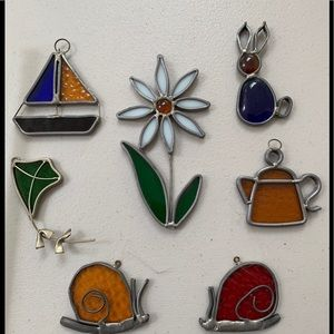 💠Stained Glass Ornament or Window Suncatchers